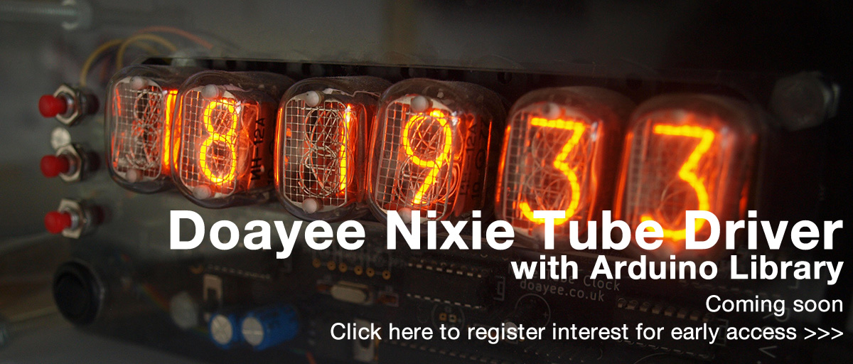 Nixie Tube Clock - Doayee