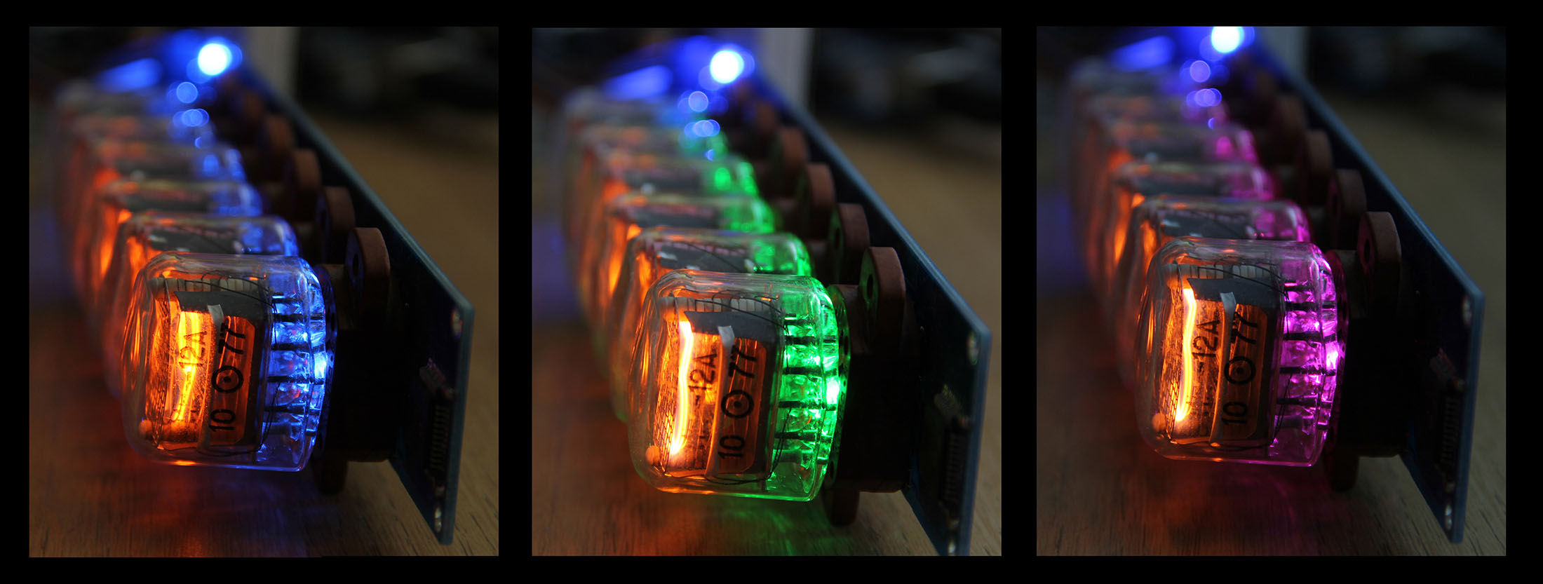 nixie tube colours rgb