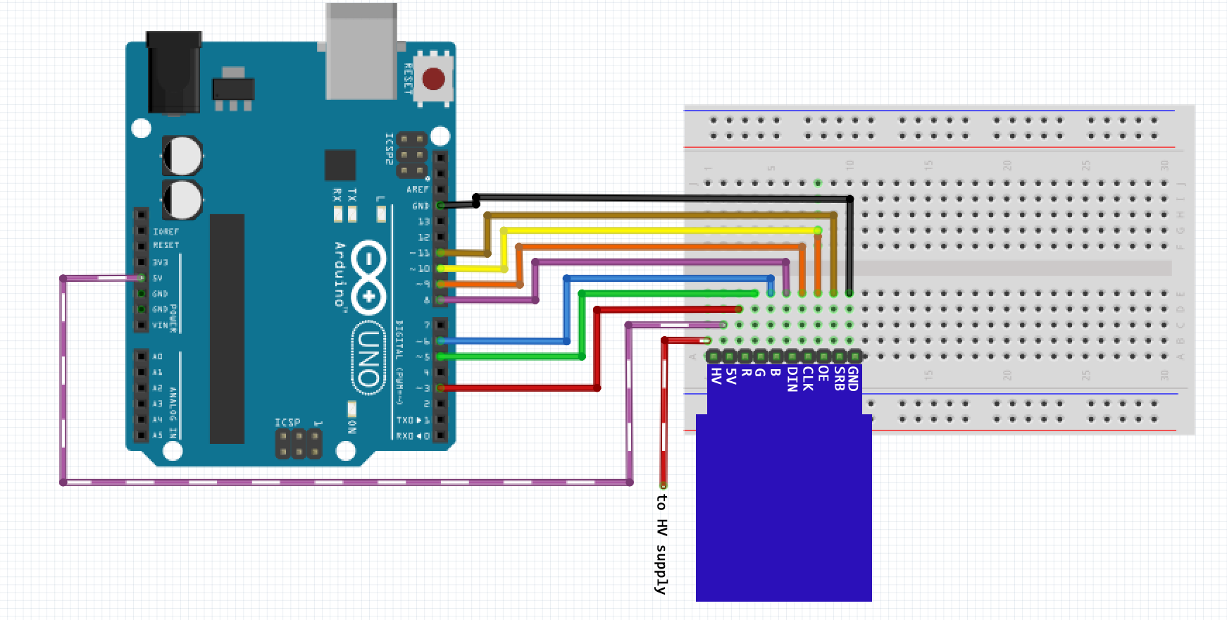 Nixie Arduino Library Screenshot